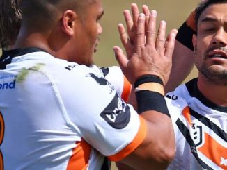 David Nofoaluma wests tigers 2020