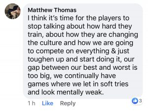 wests tigers fan reaction facebook