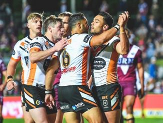 wests tigers try celebration